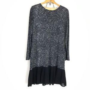 Michael Kors Black Paisly Stretch Shift Dress